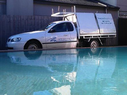 Photo Kew Pool's maintenance truck